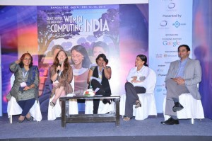 "Panel discussion on ""Intercultural Issues in Project Management"" at Grace Hopper Conference, India, 2012"